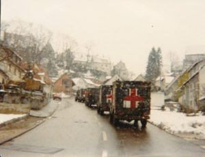 4 Field Ambulance on winter exercise in Germany circa 1985