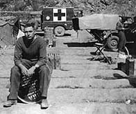 R.C.A.M.C medic relaxing in Korea