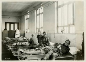 Patient ward in Canadian general hospital overseas