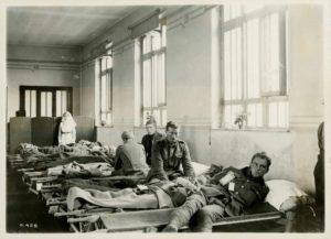 Patient ward in Canadian general hospital overseas