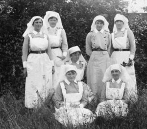 Canadian Army Medical Corps Nursing Sisters in England circa 1916