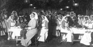 Nursing Sisters following Christmas Dinner at La Treport Source: Trent University Archives