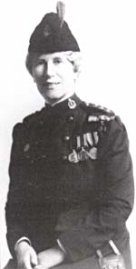 Georgina Pope wearing the military nursing uniform of the Canadian Army Medical Corps