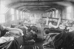 Interior No 7 General Hospital Étaples, France, 1917
