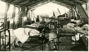 Queens General Hospital following bombing 1918. Source:
