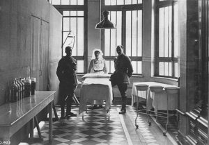 CAMC officers No 5 General Hospital (possibly Pemberton Operating Room Royal Jubilee Hospital, Victoria BC)